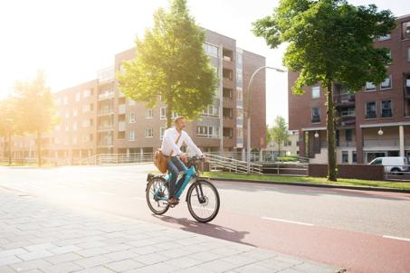 Elektrisch fietsen naar werk