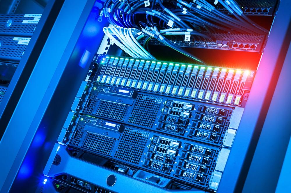 Server voor het hosten van een website